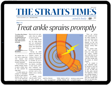 Treat Ankle Sprains Promptly Article